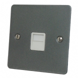 Flat Plate Pewter TV, Phone & Satellite Sockets
